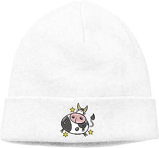 a672f4dd3ad Manlee Cartoon Cute Cow Unisex Winter Knitting Wool Warm Hat Daily Slouchy Hats  Beanie Skull Cap
