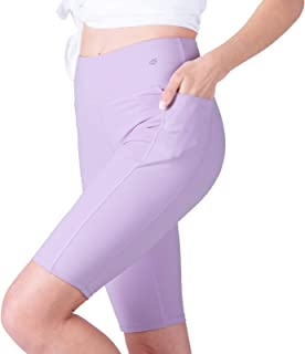 GymBrave Women's Naked Feeling High Waisted Athletic Yoga Shorts for Women Workout Biker Shorts - 10 Inches