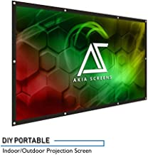 Akia Screens 120 inch Indoor Outdoor Collapsible Portable Projector Screen 16:9, 8K 4K Ultra HD 3D Ready Movie Theater Home Theater Roll-Up DIY Hang Anywhere Projection Screen, AK-DIY120H1