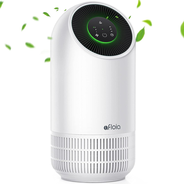 Purificador de aire portátil Afloia para filtro HEPA auténtico de 4 etapas, 3 velocidades, purifica el aire silencioso, limpiador de aire para polvo y polen, humo, olores, moho, humo