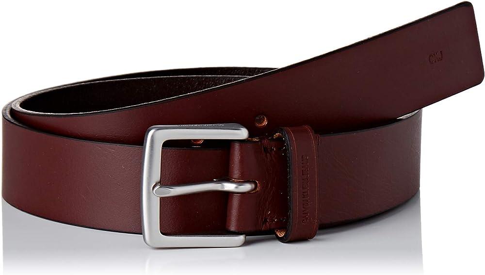 Calvin klein, cintura per uomo,in vera pelle. K50K505860