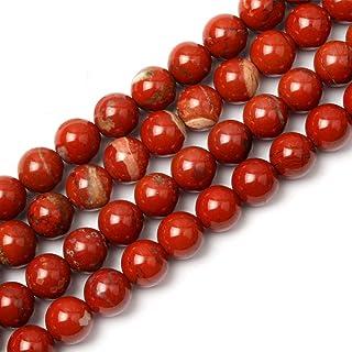 4 beads #FC8360 16mm Brecciated Brick Red Jasper Round Bead