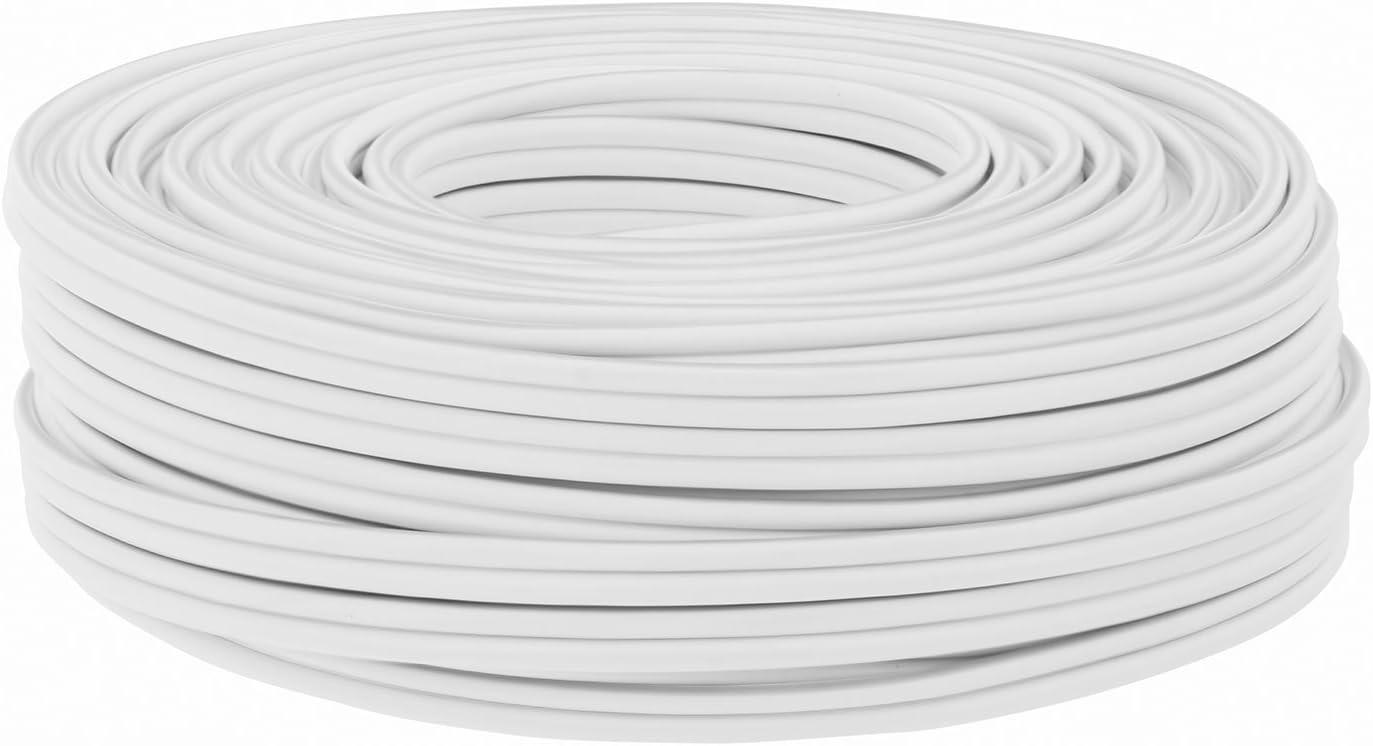 25 m Lautsprecher-Kabel 0,75 mm² weissBoxenkabel/%100 CCA Kupfer