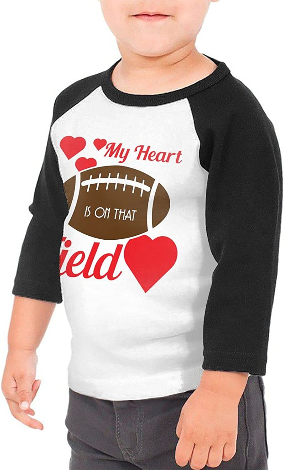 My Heart is On That Football Field T-Shirts Novelty for Girls Tees with Cool Designs