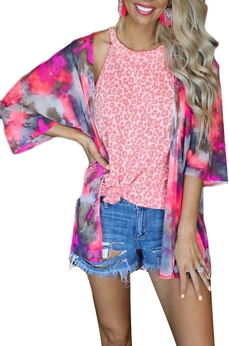 Max 57% OFF Womens Casual Ranking TOP19 Tie-Dyed Long Sleeve Open Kimo Front Coat Cardigan