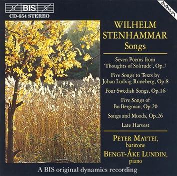 Stenhammar: Songs, Opp. 7, 8, 16, 20, and 26