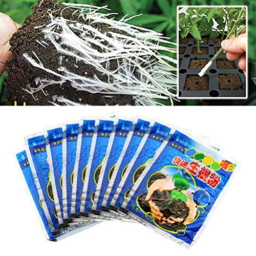 Ahagut Root powder for plants and cuttings Highly effective rooting aid, 10 sachets 10g
