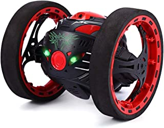 Thethan Leaping Dragon 2.4G RC Bounce Car with LED Night Lights Car Kids Toys Birthday Gifts