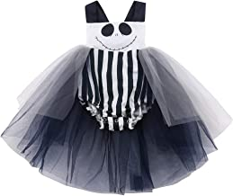 Newborn Infant Toddler Baby Girl Halloween Smile Romper Tank Top Bodysuit Halter Bowknot Jumpsuit Tutu Dress