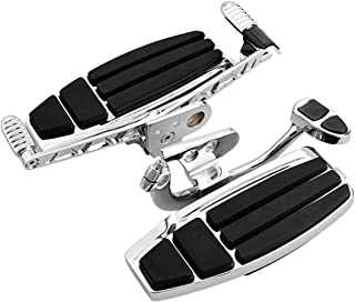 Set Driver Floorboard w/Heel-Toe Shifter Brake Lever Compatible with Honda Goldwing GL1800 & F6B 01-16 Valkyrie 14-15