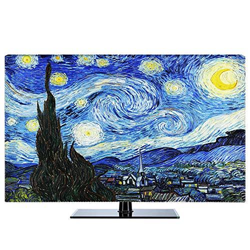 """Protector TV Interior Universal Funda para Televisor de 20"""" - 80"""" LCD, LED, ó Plasma, Patrones de Impresión de Alta Definición, Decoraciones de Pantalla - 32 Pulgadas Starry"""