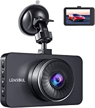 Dash Cam, Lensoul 1296P Dashboard Camera Recorder Full HD with 3