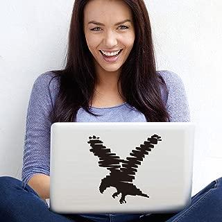 pegatina de pared etiqueta de la pared Pegatina de la gaviota de la computadora que toma sus alas que diseña la etiqueta del cuaderno para el ordenador portátil
