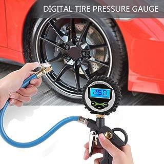 Car LCD Digital Tyre Tire Air Pressure Inflator Gauge Meter Tester Auto Tire Inflator Pressure Gauge for Truck Motorcycle Bike