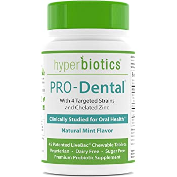 PRO-Dental: Probiotics for Oral & Dental Health—Freshens Breath at Its Source—Top Oral Probiotic Strains Including L. salivarius and L. paracasei—Sugar Free (Chewable)—45 Day Supply