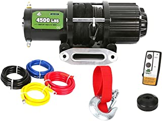 Offroad Boar 4500lb ATV Winch Kit with 50ft Black Synthetic Rope