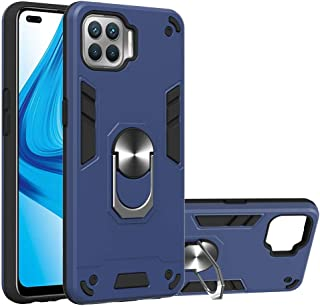 Hanlwza Cover Case for Oppo F17 Pro /A93, Metal Ring Phone Case with Kickstand 360 Degree Rotating [Vertical & Horizontal ...