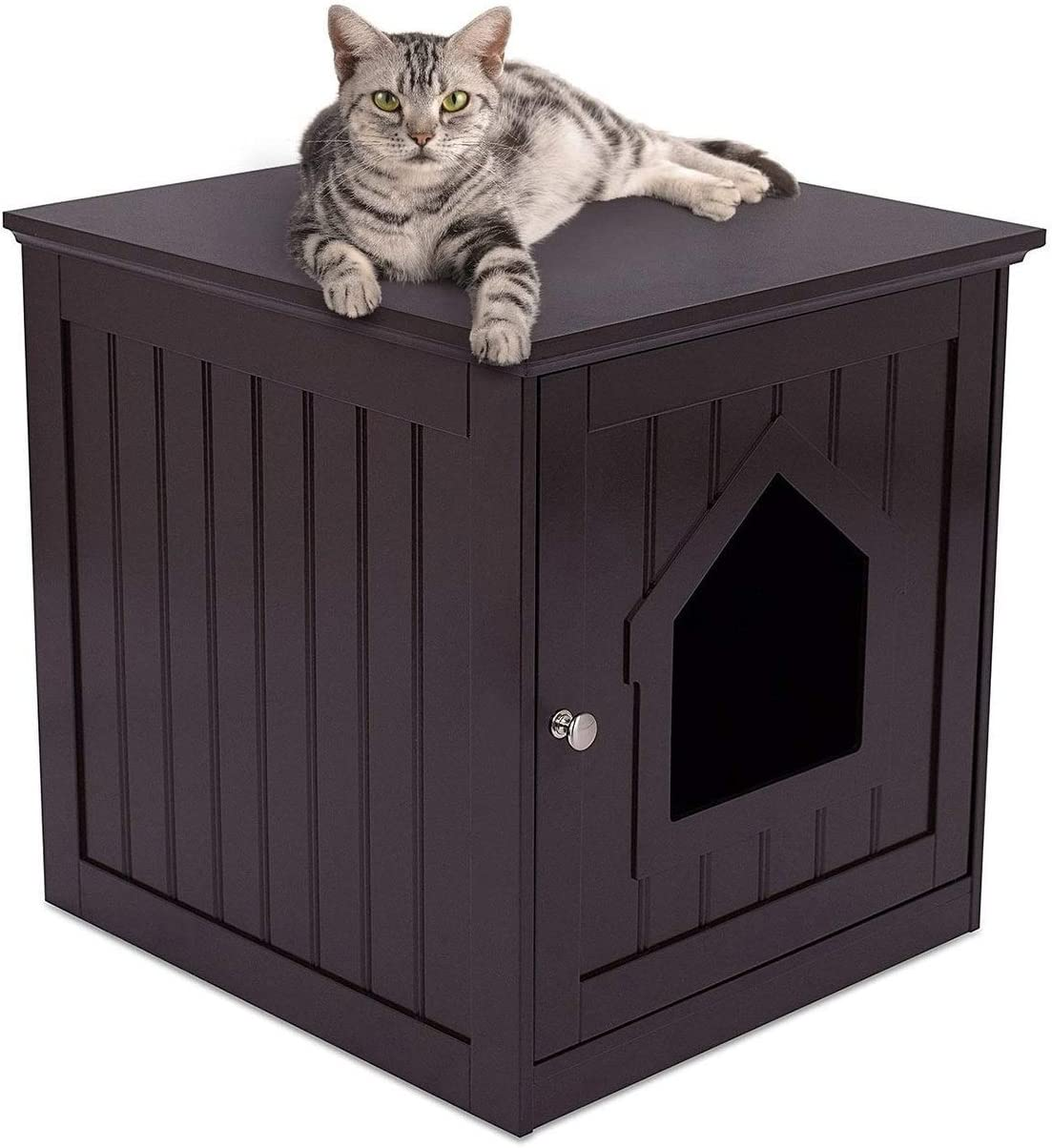 Decorative Cat Max 59% OFF House Japan's largest assortment Side Table Cra Pet Indoor Nightstand Home