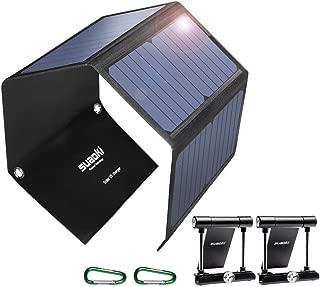 SUAOKI Quick Charge 3.0 Portable Solar Charger 28W SUAOKI Foldable Solar Panels 3-Port..