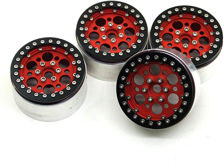 FidgetGear 2 2'' Alum Beadlock Wheel Rims 35mm for Axial