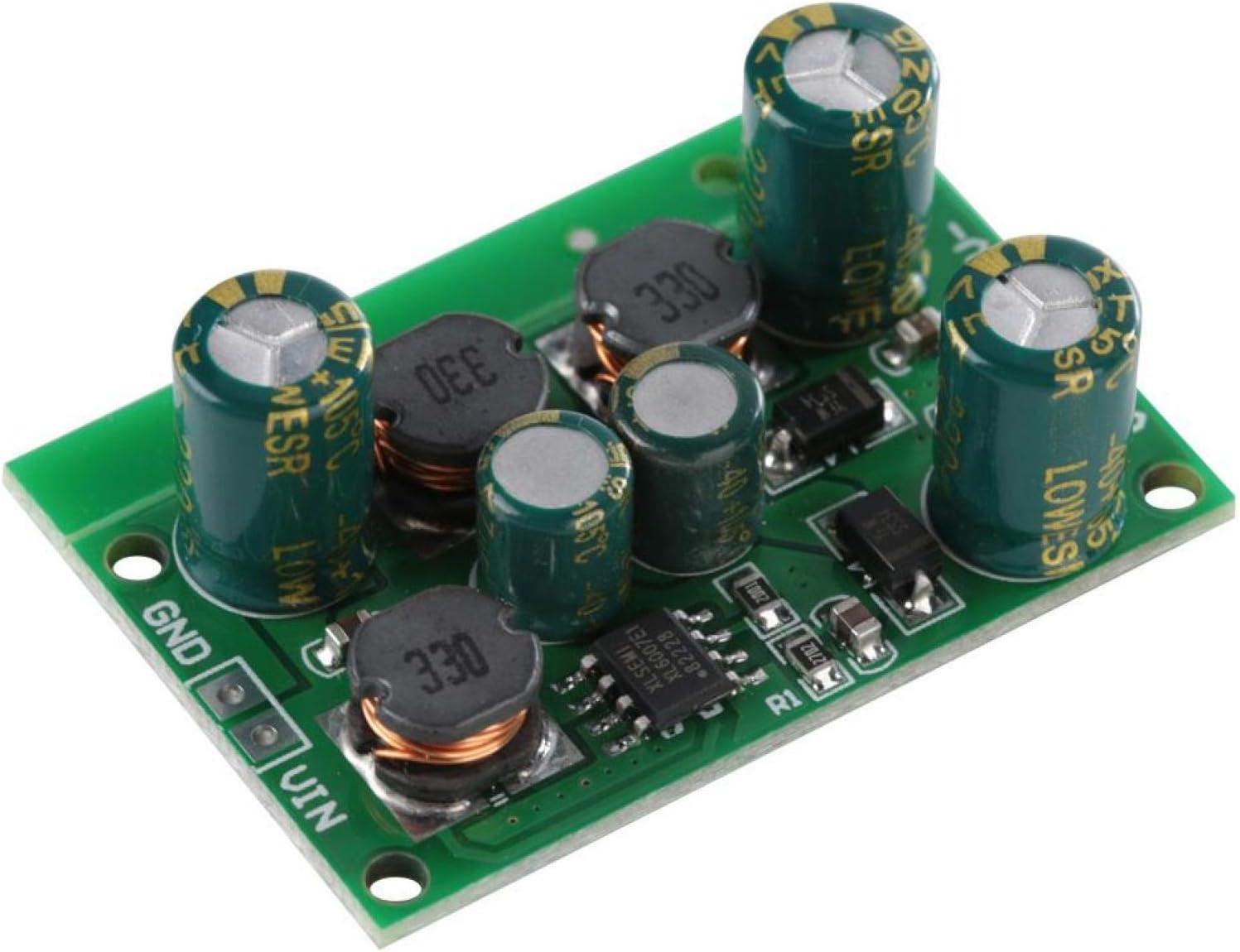 Jeanoko Positive and Negative Voltage Regulator DC-DC Boost Converter Positive and Negative Power Supply Boost Regulator(Output Voltage ±12VDC)