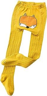 Niños Invierno Calentar Pantimedias Chicas Niñas Calcetines Largos Medias de Algodón Dibujos Animados para Bebés Niño Niña Sólido Tejer Elásticos Polainas Leggings Leotardos de Pies