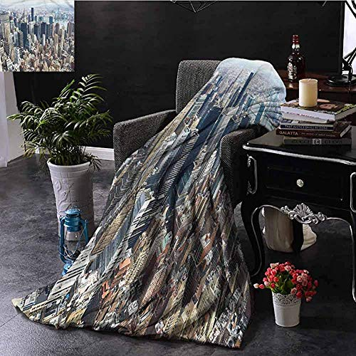 Dusk Fort Throw Blanket Minky Blankets,Fit Couch Sofa Super Soft Minky Coperte Decorazioni per La Casa,Urbano/Manhattan Paesaggio Urbano di New York,50'X40'