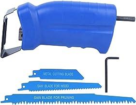 Adaptador de hoja de sierra, Adaptador de sierra recíproca Herramienta de taladro eléctrico + Accesorio de carpintería para corte de metal con hoja de sierra (Negro)