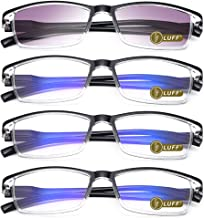 Sponsored Ad - LUFF 4PCS Anti-Blu-Ray Reading Glasses Uv400,Sun Readers With Spring Hinges