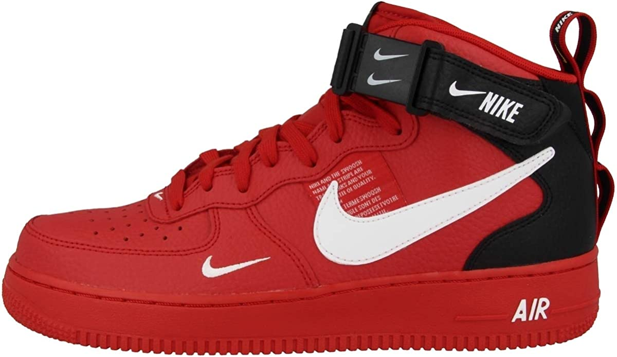 air force 1 uomo rosso