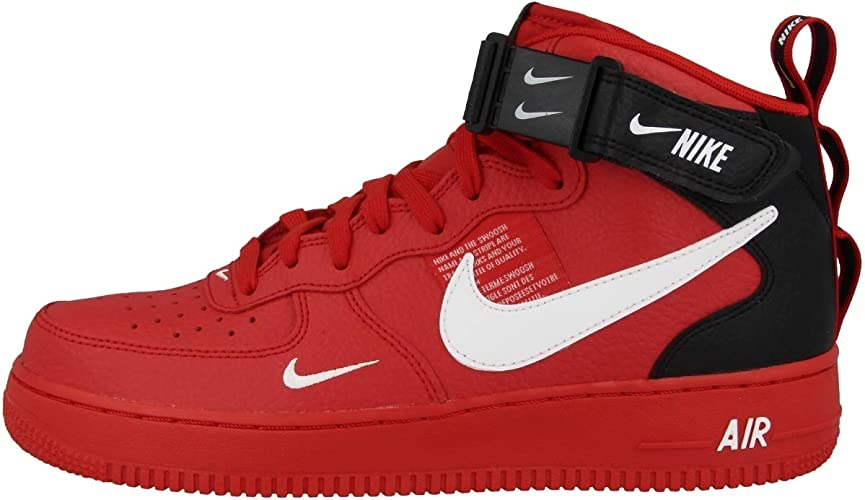 Nike Chaussures Air Force 1 Mid ´07 Lv8 Rouge 45.5 : Amazon.fr ...