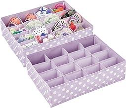 mDesign Soft Fabric 16 Section Dresser Drawer and Closet Storage Organizer for Child/Kids Room, Nursery, Playroom - Divide...