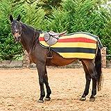 Best On Horse Nierendecke–gestreift, Fleece, Pferd, Ausreitdecke, Klettverschluss, Newmarket,...