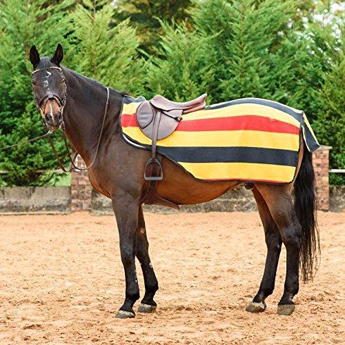 Best On Horse Nierendecke–gestreift, Fleece, Pferd, Ausreitdecke, Klettverschluss, Newmarket, M