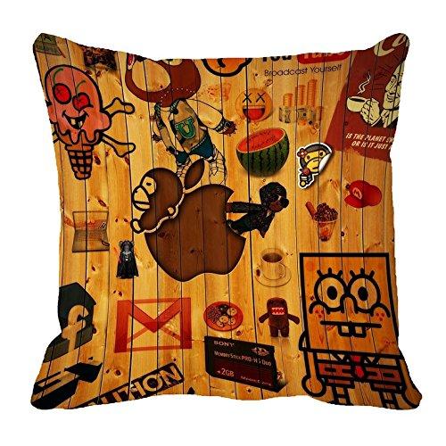 "meSleep Wood Planks 3D Abstract Satin Cushion Cover - 20""x20"", Yellow"