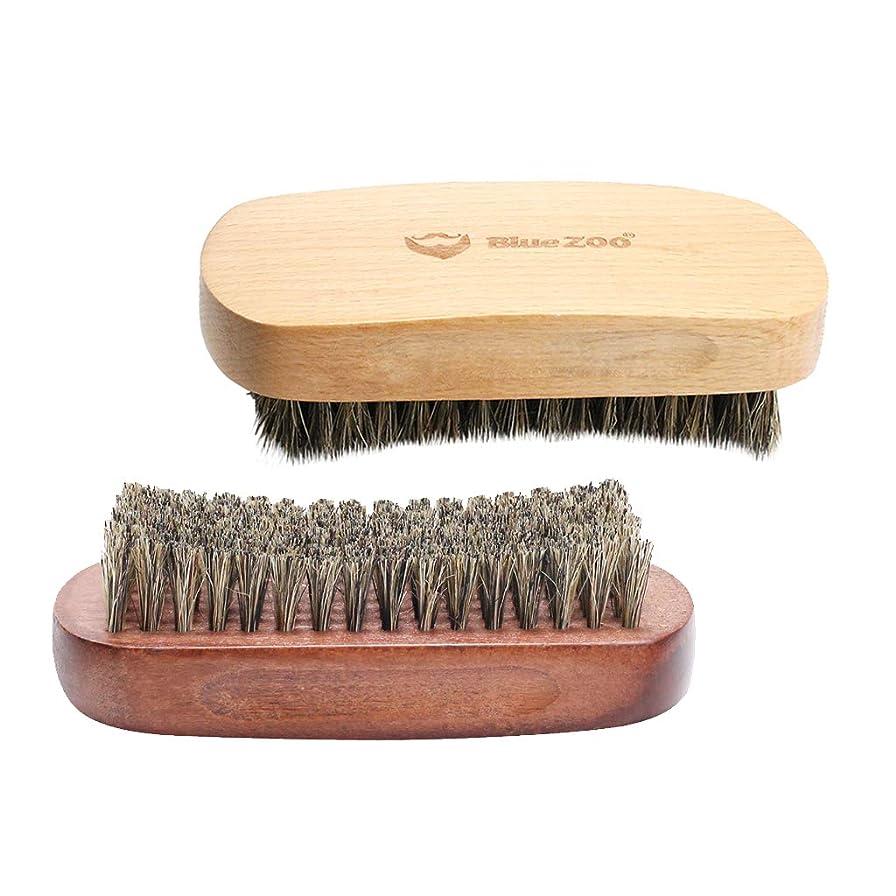 蒸発ビヨン愛撫dailymall 2ピース木製男性口ひげグルーミングブラシひげ剃る成長クリームクリーム
