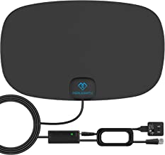PERLESMITH TV Antenna - Indoor HD Antenna 70-120 Miles Long Range Reception Supports 4K 1080P - Digital Antenna for HDTV VHF UHF Freeview Channels with Signal Amplifier and 16.5ft Coaxial Cable