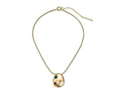 Rebecca Minkoff Chubby Multi Stone Short Necklace (Gold) Necklace