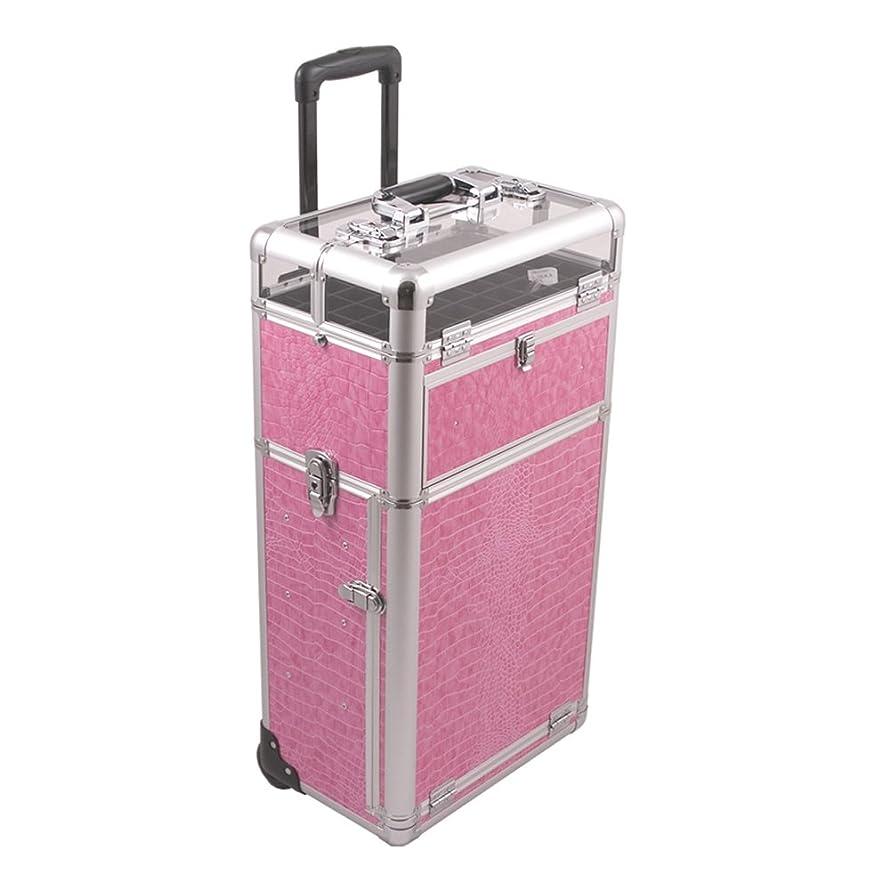 Craft Accents I31063 Croc Trolley Craft/Quilting Storage Case, Pink
