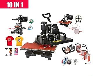 Wang 10 in 1 Combo Heat Press Machine,Sublimation/Heat Press,Heat Transfer Machine for Mug/Cap/Tshirt/Phone Cases