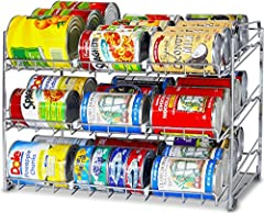 Stackable design: get multiple sets and stack them together in a second Store up to 36 can or variety size can/jars Six adjustable plastic dividers get different size can, jars, Beverage can aligned and organized Assembled in a minute and no hardware...