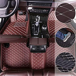 Car Floor Mats for Toyota Corolla E140/E150 2007-2017 Custom Leather mat Full Surrounded Cargo Liner All Weather Protection Waterpoof Non-Slip Set Left Drive Coffee Color