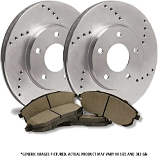 -Combo Brake Kit- 4 OEM Replacement Extra-Life Heavy Duty Brake Rotors SHIPS FROM USA!!-Tax Incl. 5lug 8 Ceramic Pads F+R Full Kit Odyssey