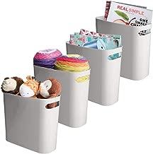 mDesign Plastic Storage Organizer, Holder Bin Box with Handles - for Cube Furniture Shelving Organization for Closet, Kid's Bedroom, Bathroom, Home Office - 10.75