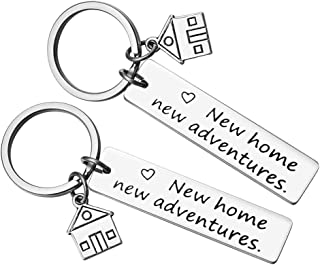New Home Keychain New Home New Adventures Keychain First Home Gift Housewarming Gift Realtor Closing Gifts House Keyring (2 Pack)