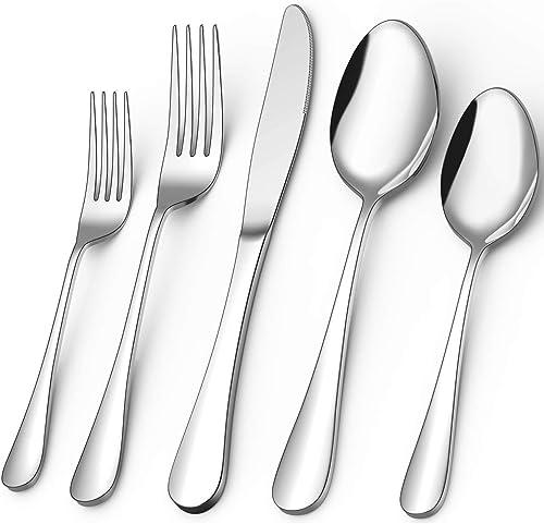 lowest 40-Piece discount Silverware Set, Umite Flatware Cutlery Set Fit for online Home/Hotel/Restaurant, Service for 8, Mirror Polished, Anti-rust, Dishwasher Safe online sale