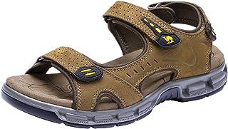 CAMEL CROWN Sandale Hommes de Randonnee Cuir Trekking Sports Outdoor Plage Marche Sandales Respirant Bout Ouvert Sandale C...