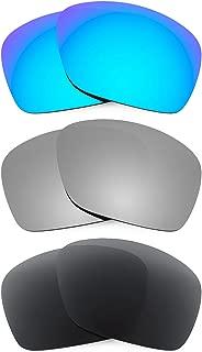 Combo de 3 pares de lentes polarizados, de reemplazo, para Oakley Plaintiff Squared K015