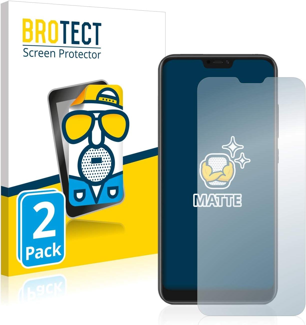 BROTECT Protector Pantalla Anti-Reflejos Compatible con Xiaomi Mi A2 Lite (2 Unidades) Película Mate Anti-Huellas