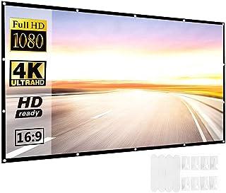 Innoo Tech Projector Screen 120 inch 16:9 HD Foldable Anti-Crease Portable 4K Projection Movies Screen